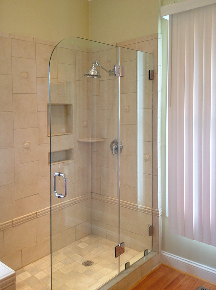 Brown S Glass Shower Enclosure Bath Rose Beige Nickel Clear Custom Cut