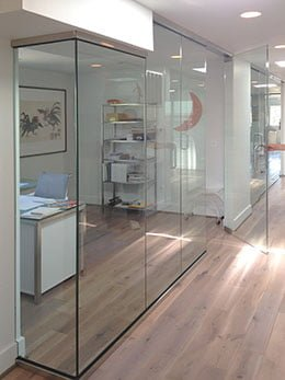 Brown's Glass Shop commercial wall privacy partition divider