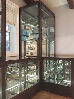 Brown's Glass Shop project mirror shelf showcase