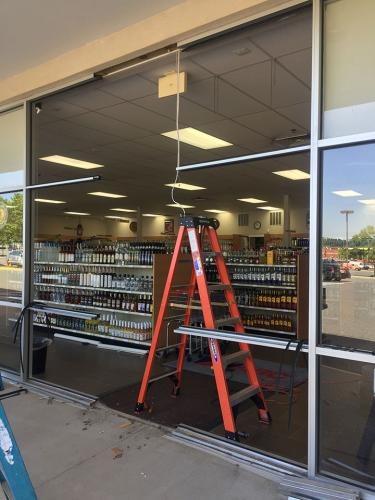 Commercial ABC Glass Storefront - during