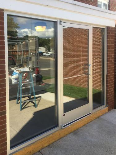 Commercial Glass Entryway - after