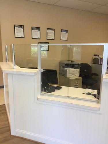 Commercial Office Front Desk Partition 02