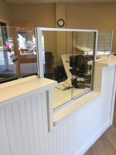 Commercial Office Front Desk Partition 03