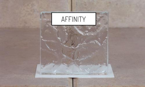 Browns Glass Shop Pattern Glass Shower Enclosure Cabinet Door - Affinity