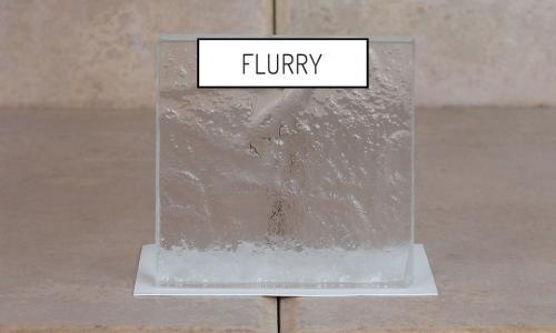 Browns Glass Shop Pattern Glass Shower Enclosure Cabinet Door - Flurry