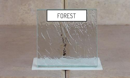 Browns Glass Shop Pattern Glass Shower Enclosure Cabinet Door - Forest