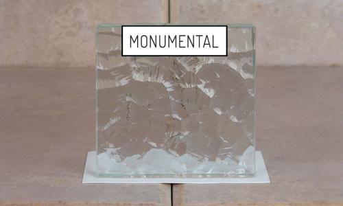 Browns Glass Shop Pattern Glass Shower Enclosure Cabinet Door - Monumental