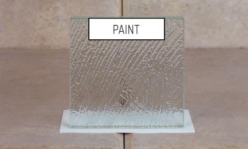 Browns Glass Shop Pattern Glass Shower Enclosure Cabinet Door - Paint