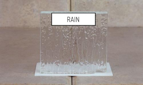 Browns Glass Shop Pattern Glass Shower Enclosure Cabinet Door - Rain