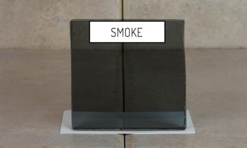 Browns Glass Shop Pattern Glass Shower Enclosure Cabinet Door - Smoke