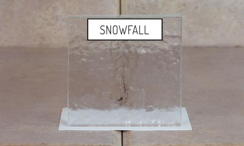 Browns Glass Shop Pattern Glass Shower Enclosure Cabinet Door - Snowfall