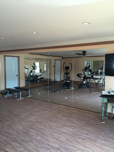 Residential Gym Wall Mirror - after