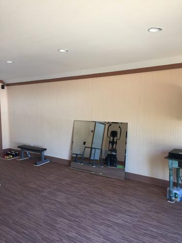 Residential Gym Wall Mirror - before