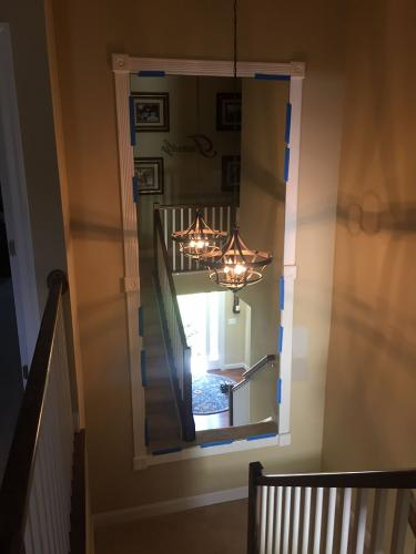 Residential Mirror Stairway Install - after 02