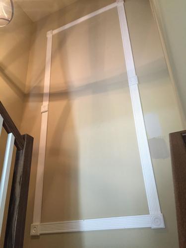 Residential Mirror Stairway Install - before