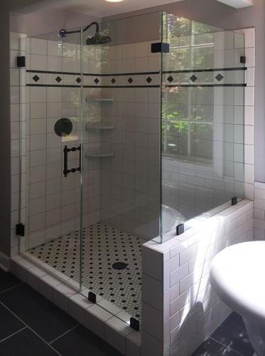 Brown's Glass Shop shower enclosure Bath white-black black clear